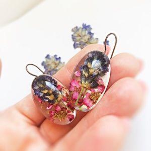 Jewelry - Pressed Flower Earrings